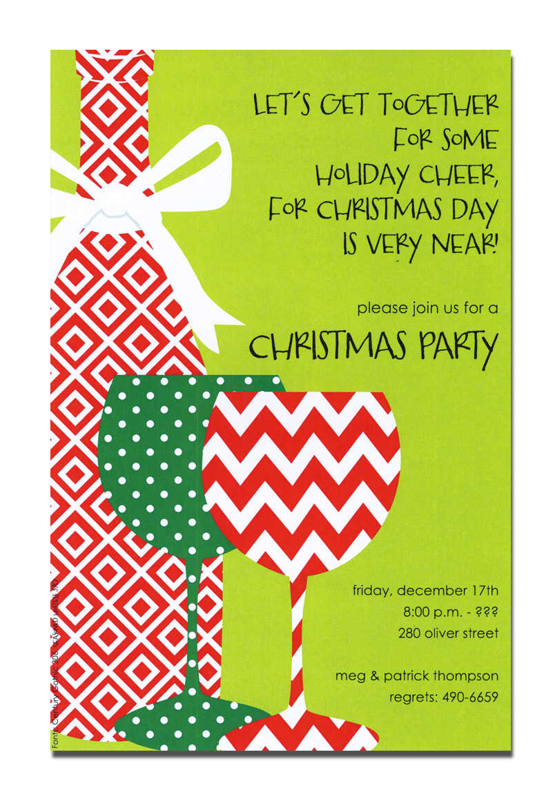Christmas Open House Invitation Template