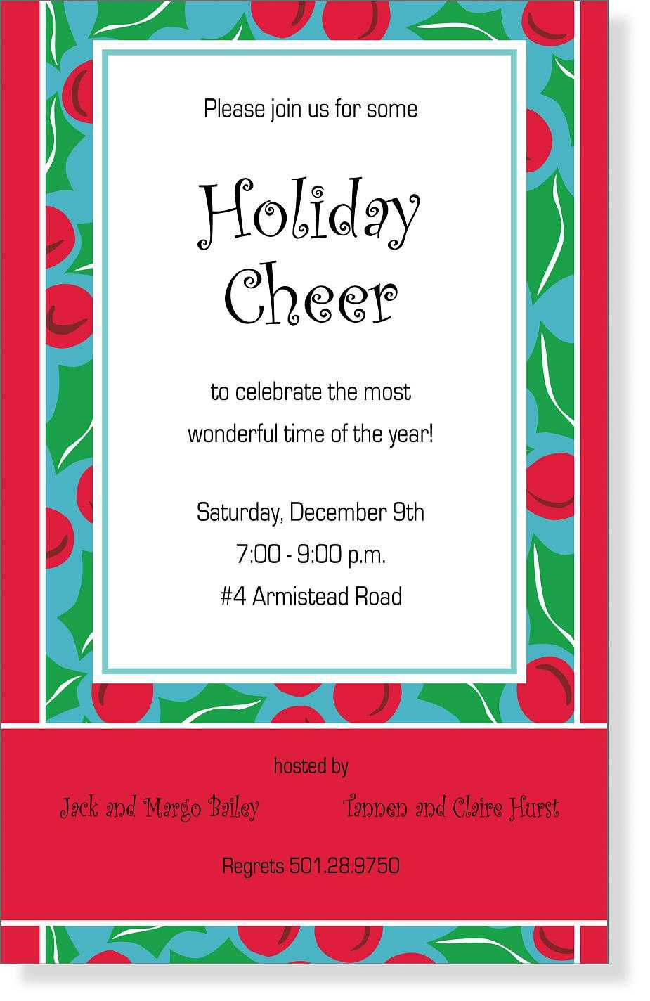 christmas invitations wording - Yeni.mescale.co