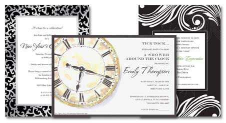 features new years invitation wording ideas