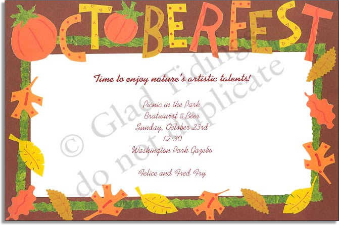 Fall invitations fall party activities ideas stopboris Gallery