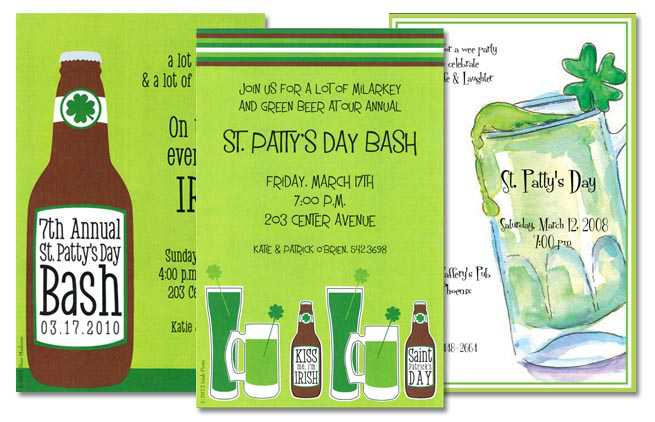 st patrick s invitations