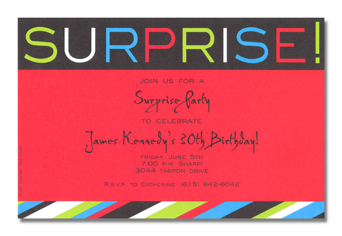 Word Party Invitation