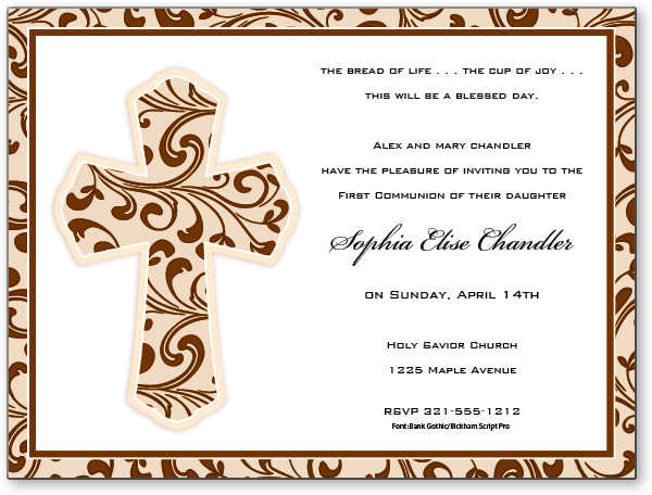First Holy Communion Invitations – Invitation Cards for First Holy Communion
