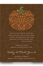 Elegant Fall Bounty Themed Invitations Add A Beautiful Touch To Your Annual Thanksgiving Dinner