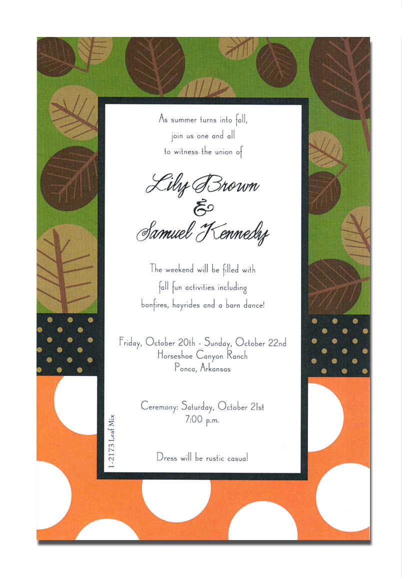 Leaf Invitations - leaf invitations and leaf announcement papers ...