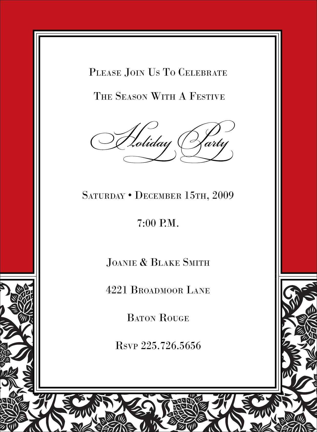 Christmas Potluck Invitation Ideas for nice invitations layout
